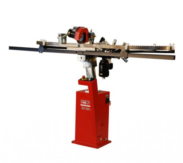 BU 800P - poloautomatická brúska pre pásové píly